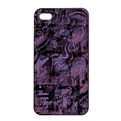Purple town Apple iPhone 4/4s Seamless Case (Black)