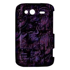 Purple town HTC Wildfire S A510e Hardshell Case