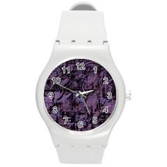 Purple town Round Plastic Sport Watch (M)