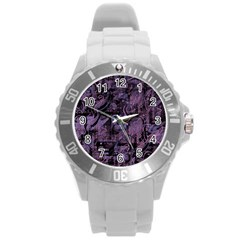 Purple town Round Plastic Sport Watch (L)