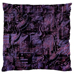 Purple town Large Cushion Case (One Side)