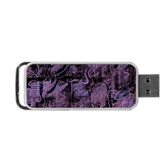 Purple town Portable USB Flash (One Side)