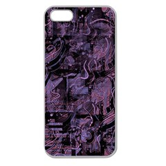 Purple town Apple Seamless iPhone 5 Case (Clear)