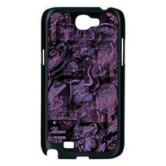 Purple town Samsung Galaxy Note 2 Case (Black)