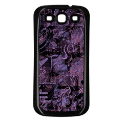 Purple town Samsung Galaxy S3 Back Case (Black)