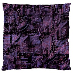 Purple town Large Flano Cushion Case (One Side)