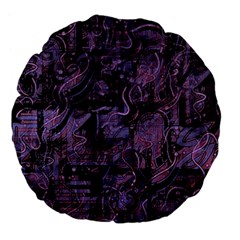 Purple town Large 18  Premium Flano Round Cushions