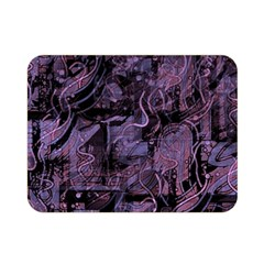 Purple town Double Sided Flano Blanket (Mini)