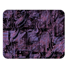 Purple town Double Sided Flano Blanket (Large)