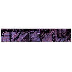 Purple town Flano Scarf (Large)