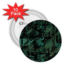 Green town 2.25  Buttons (10 pack)