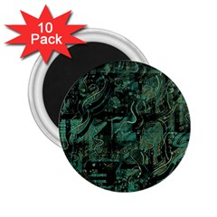 Green town 2.25  Magnets (10 pack)