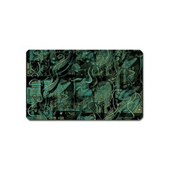 Green town Magnet (Name Card)