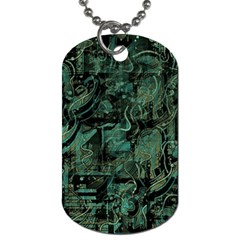 Green town Dog Tag (One Side)