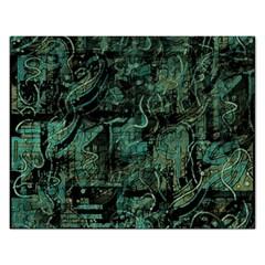 Green town Rectangular Jigsaw Puzzl