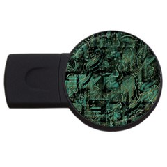 Green town USB Flash Drive Round (4 GB)
