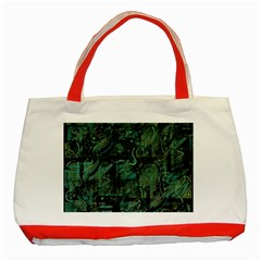 Green town Classic Tote Bag (Red)