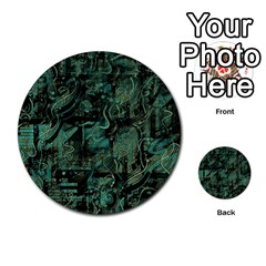 Green town Multi-purpose Cards (Round)