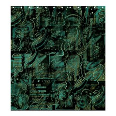 Green town Shower Curtain 66  x 72  (Large)