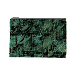 Green town Cosmetic Bag (Large)