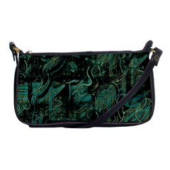Green town Shoulder Clutch Bags