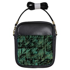 Green town Girls Sling Bags
