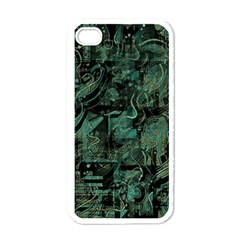 Green town Apple iPhone 4 Case (White)