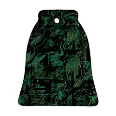 Green town Bell Ornament (2 Sides)