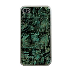 Green town Apple iPhone 4 Case (Clear)