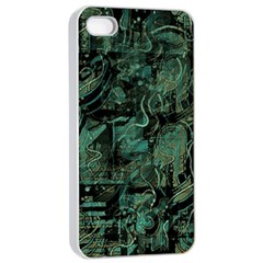 Green town Apple iPhone 4/4s Seamless Case (White)
