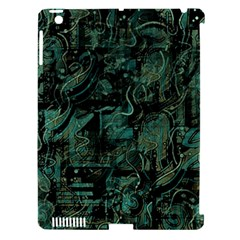 Green town Apple iPad 3/4 Hardshell Case (Compatible with Smart Cover)