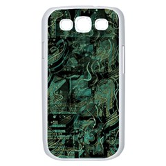 Green town Samsung Galaxy S III Case (White)