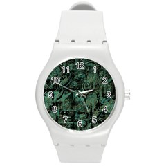 Green town Round Plastic Sport Watch (M)