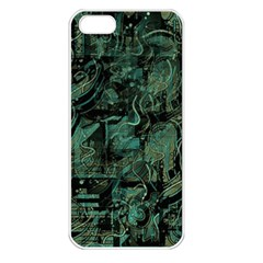 Green town Apple iPhone 5 Seamless Case (White)