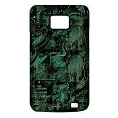 Green town Samsung Galaxy S II i9100 Hardshell Case (PC+Silicone)