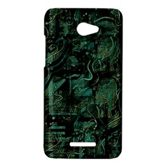 Green town HTC Butterfly X920E Hardshell Case