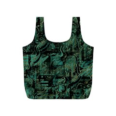 Green town Full Print Recycle Bags (S)
