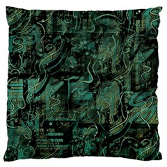 Green town Standard Flano Cushion Case (One Side)