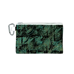 Green town Canvas Cosmetic Bag (S)