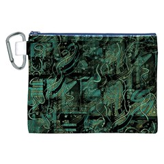 Green town Canvas Cosmetic Bag (XXL)