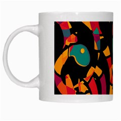 Colorful snakes White Mugs