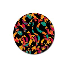 Colorful snakes Magnet 3  (Round)