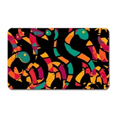 Colorful snakes Magnet (Rectangular)