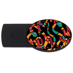 Colorful snakes USB Flash Drive Oval (1 GB)