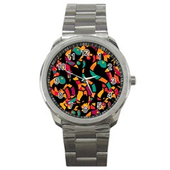 Colorful snakes Sport Metal Watch