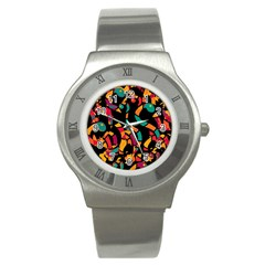 Colorful snakes Stainless Steel Watch