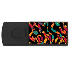 Colorful snakes USB Flash Drive Rectangular (4 GB)