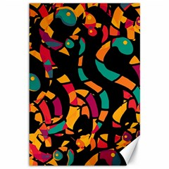 Colorful snakes Canvas 12  x 18