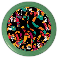 Colorful snakes Color Wall Clocks