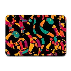 Colorful snakes Small Doormat